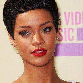 Rihanna Latest Short Curly Hairstyle