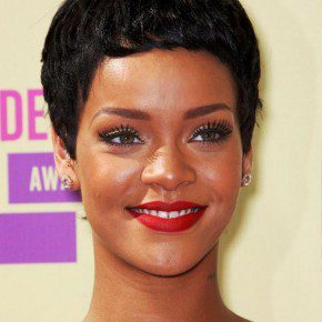Rihanna Latest Short Pixie Haircut