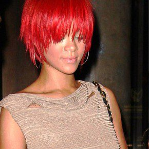 Rihanna Short Red Hairstyles