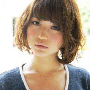 Short Wavy Japanese Hairstyle