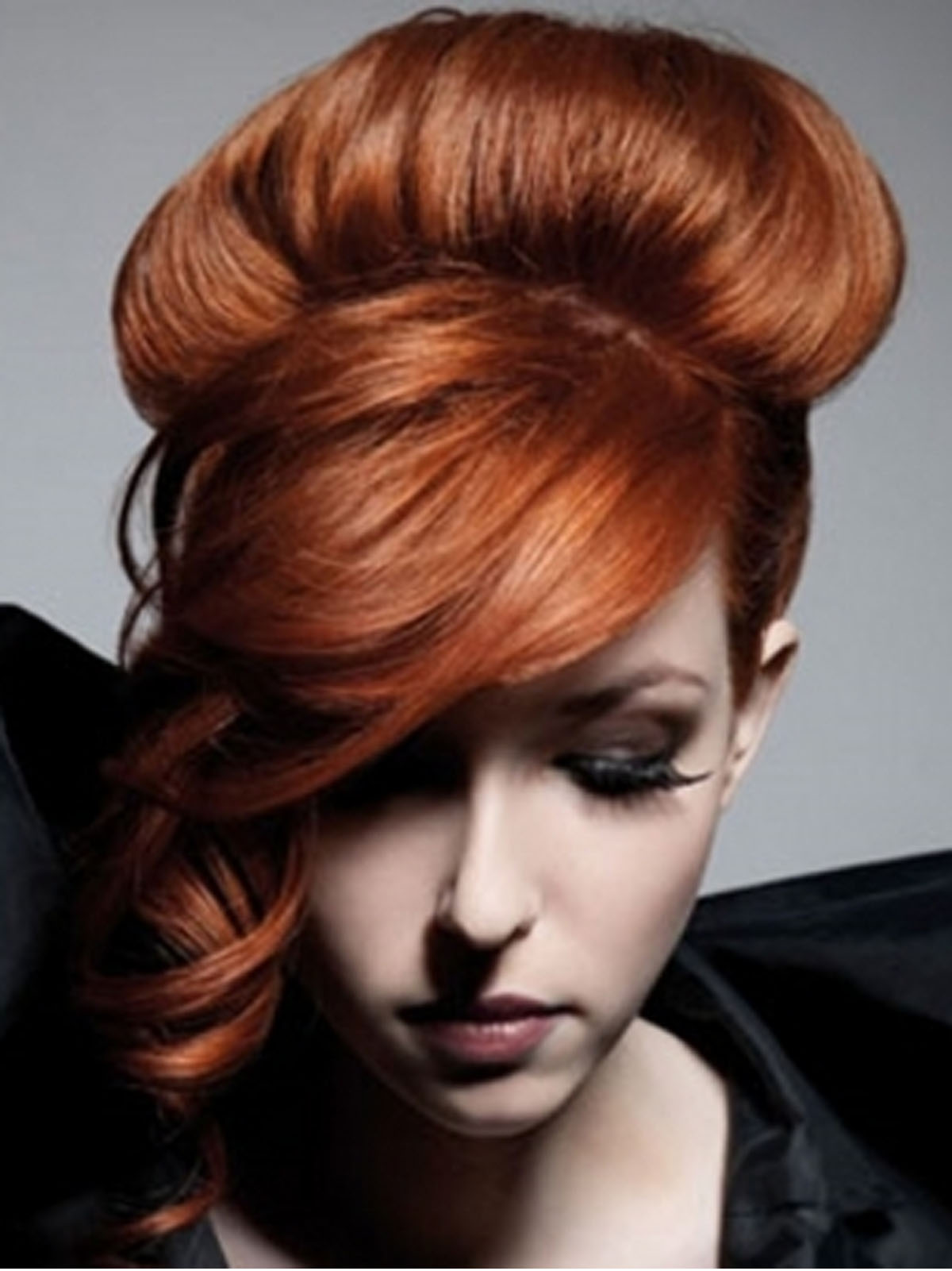 pictures of updo hairstyles for red hair