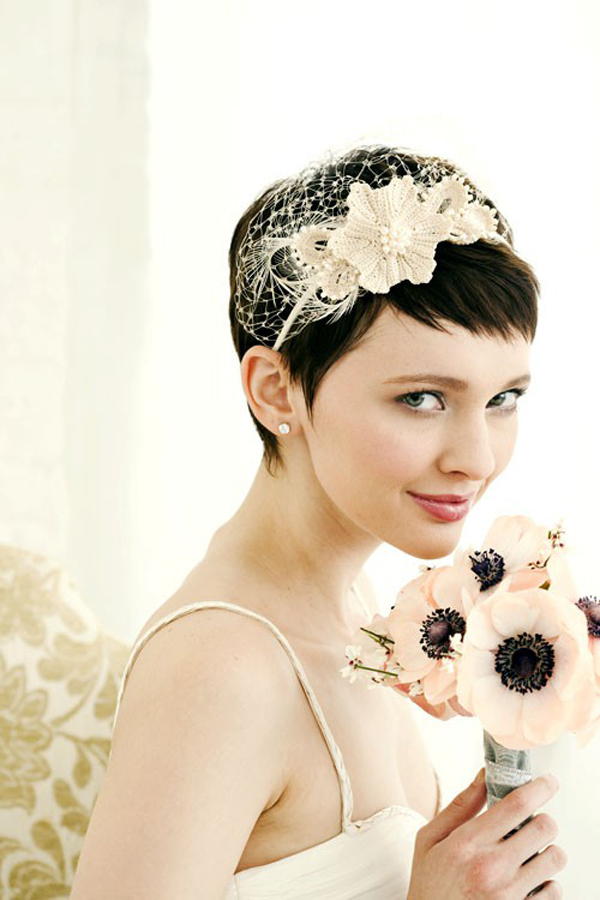Wedding Hairstyles Very Short Hair Pictures
