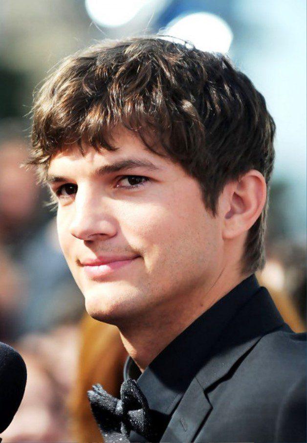 Ashton Kutcher Layered Short Haircut For Men