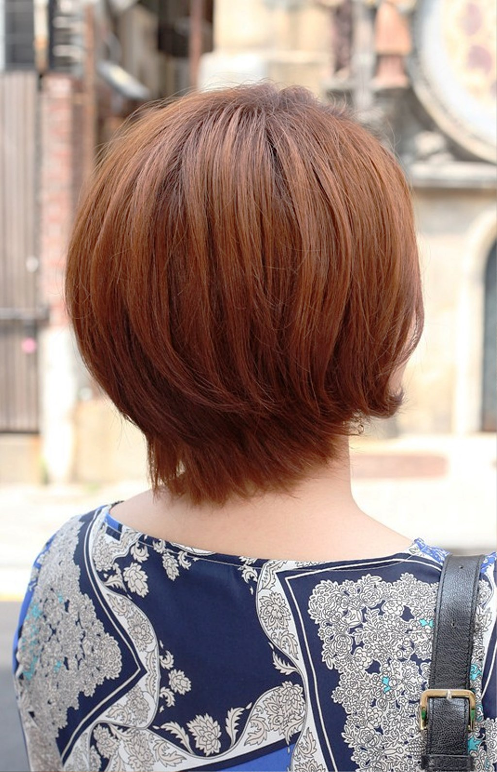 Back View Of Short Auburn Bob Hairstyle Hairstyles Ideas