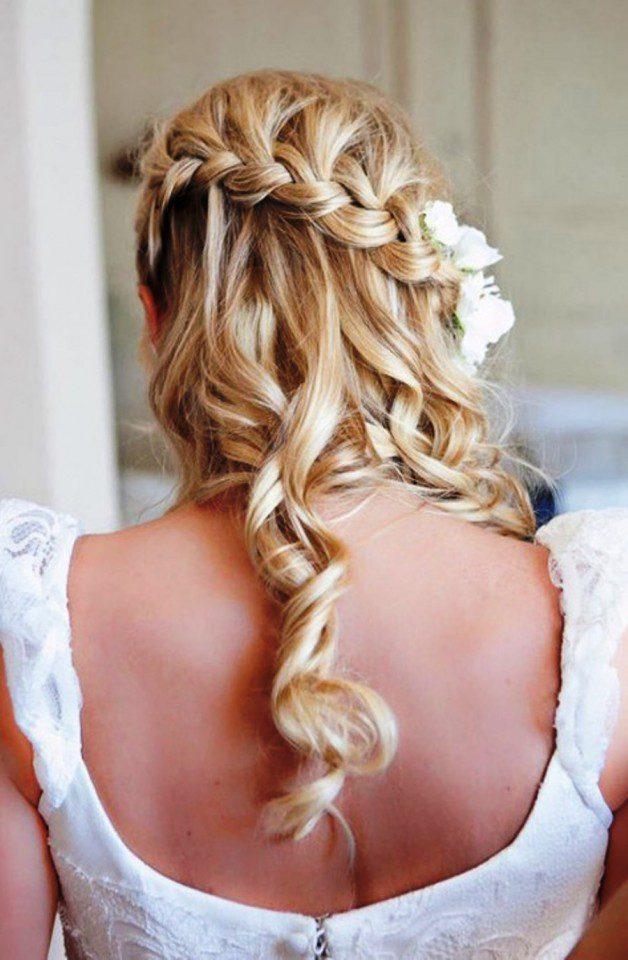 Beautiful Waterfall Braid Hairstyles For Wedding