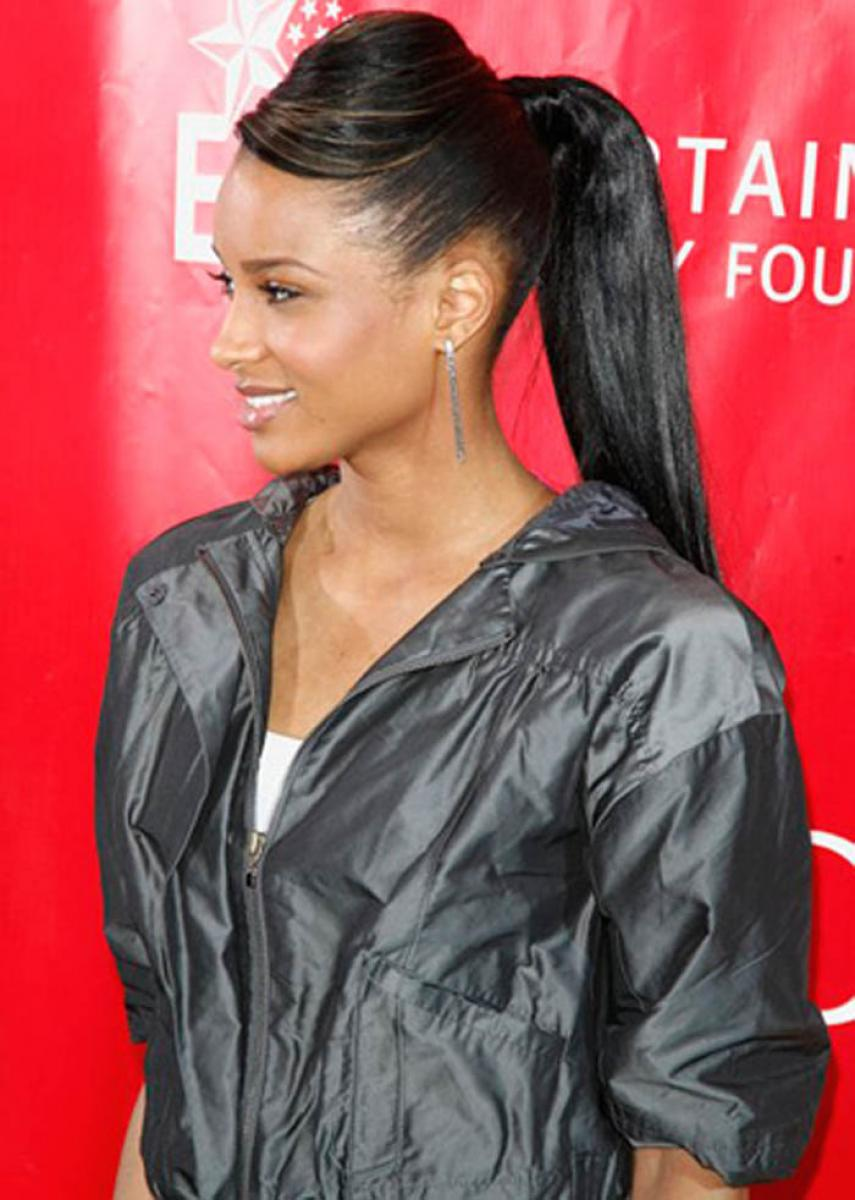 Black Ponytail Hairstyles With Weave Hairstyles Ideas Black