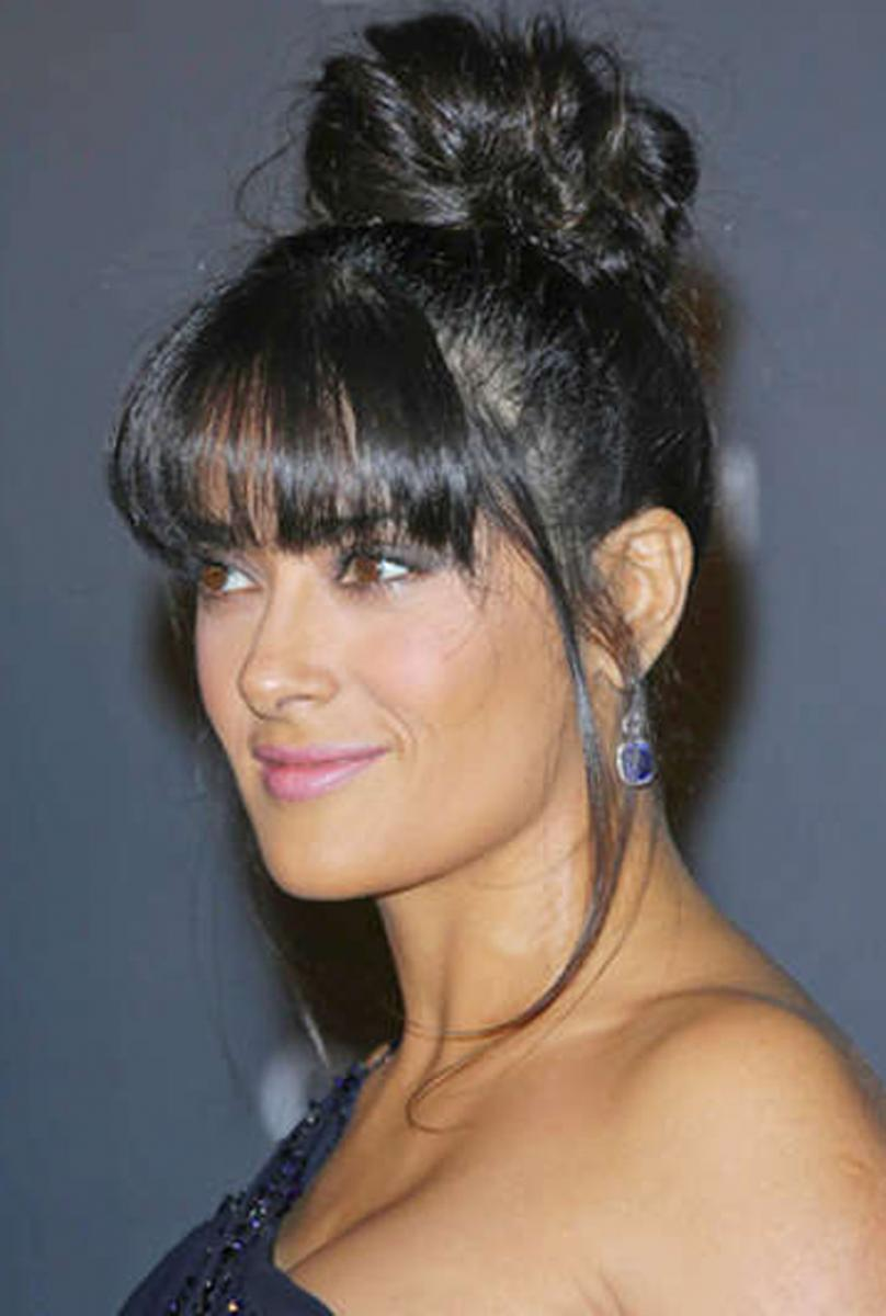 black hair styles with bangs pictures of black updo hairstyles with bangs 7388