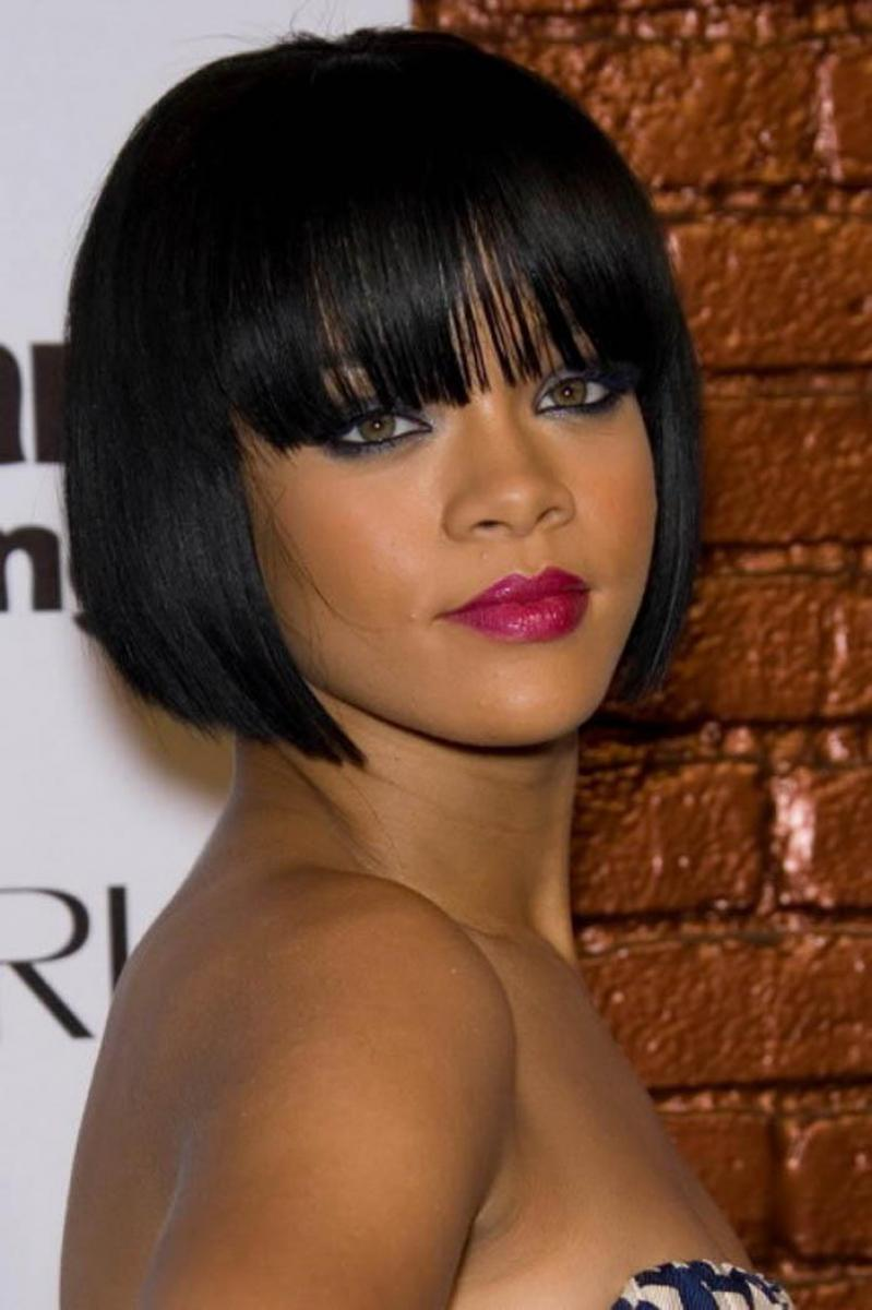 pictures of black women short hairstyles with bangs