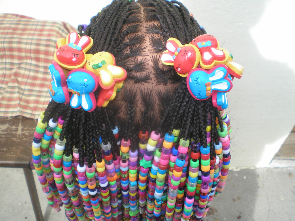 pictures of braided hairstyles for girls with beads