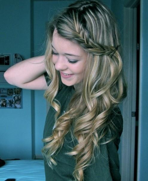 Enjoyable Cute Curly Hair With Braid Braids Hairstyles For Women Draintrainus