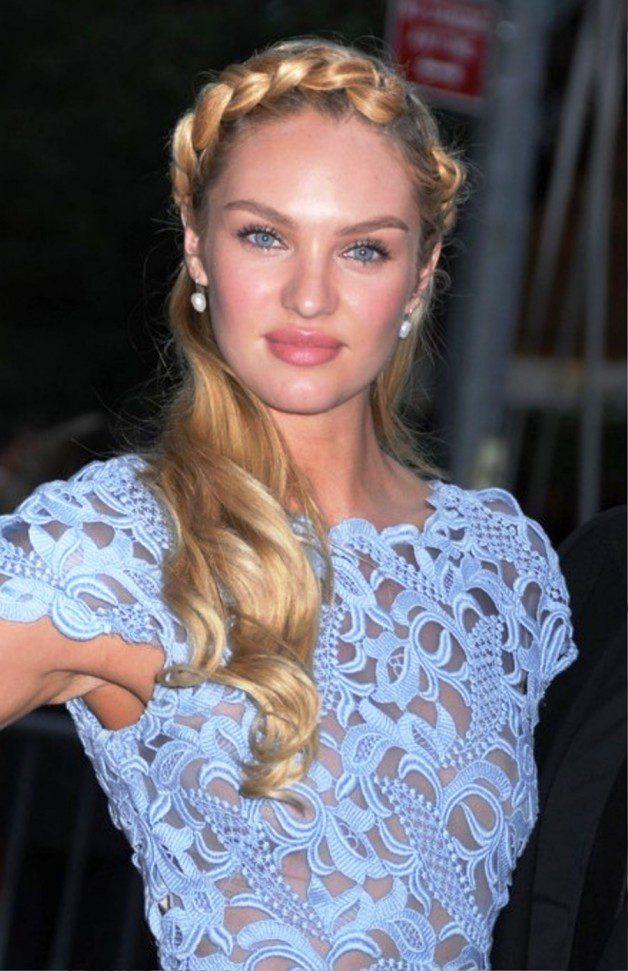 Candice Swanepoel Heidi Braided Updo