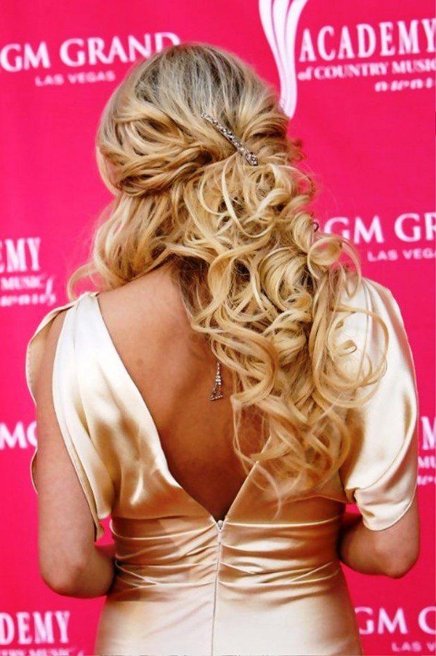 Carrie Underwood Half Up Half Down Hairstyles