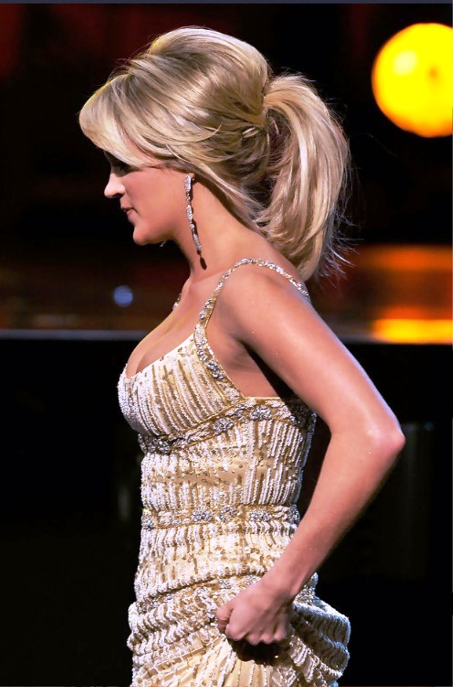 Carrie Underwood Loose Ponytail For Medium Hair Hairstyles Ideas