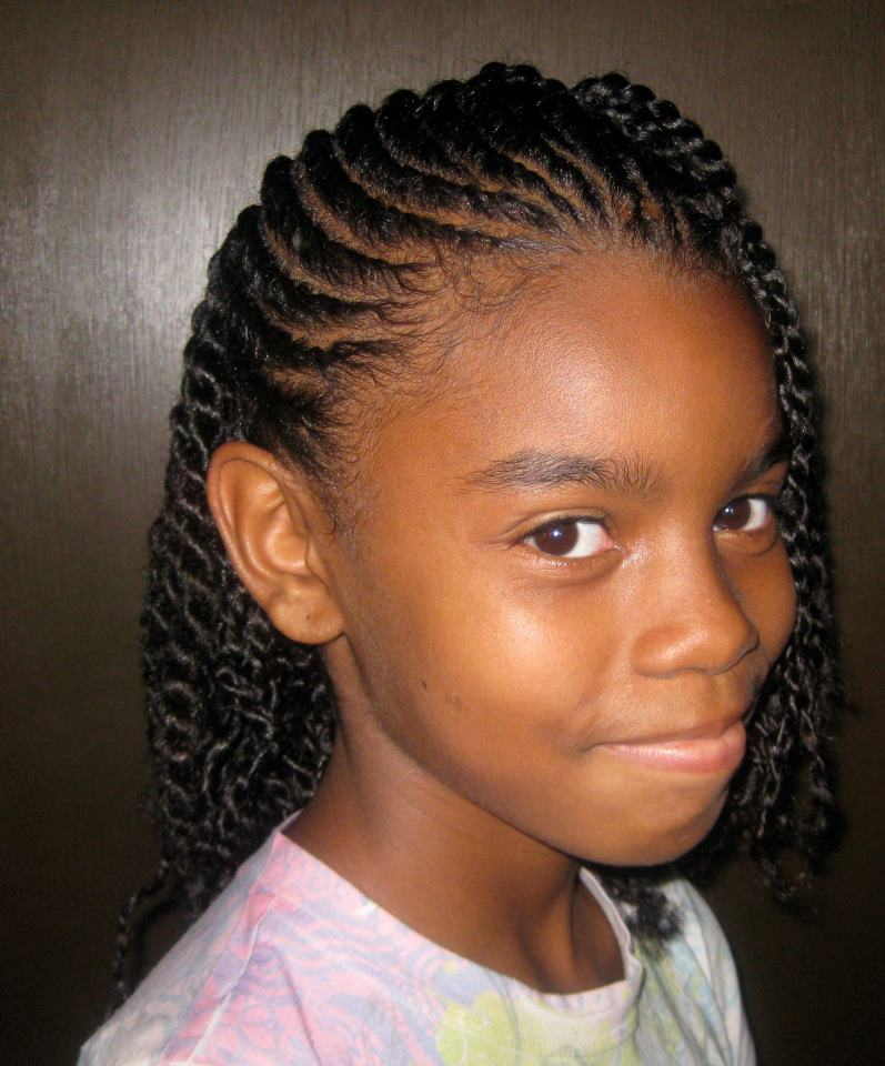 Cute Braided Hairstyles For African Americans Kids