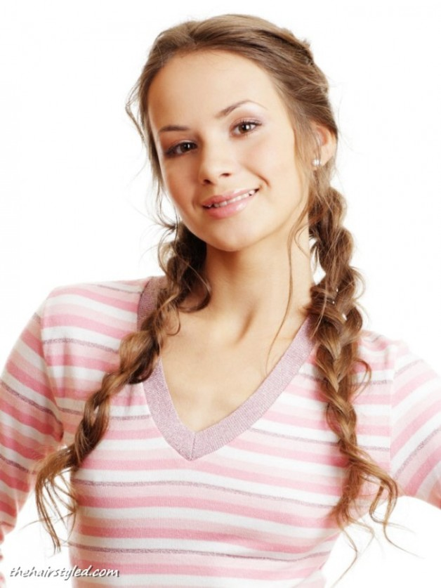 Easy Braided Updos For Shoulder Length Hair : Cute braided hairstyles medium length hair behairstyles.com