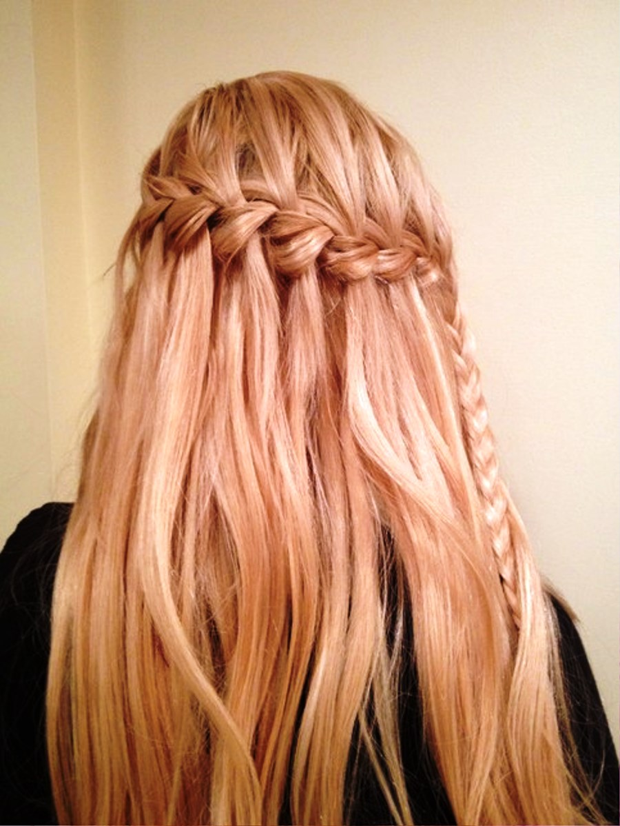 pictures of cute waterfall braid hairstyle for women