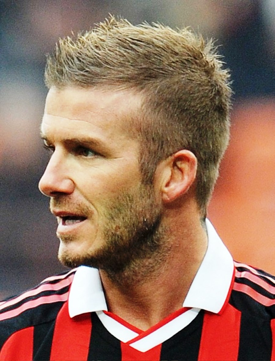 Pictures Of David Beckham Short Spiked Haircut For Men