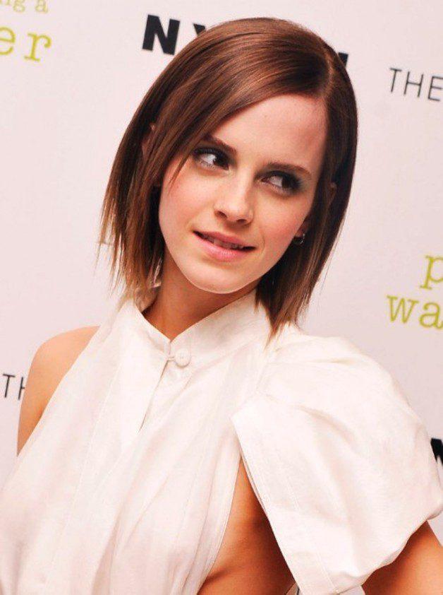 Emma Watson Short Straight Bob Hairstyle Behairstyles