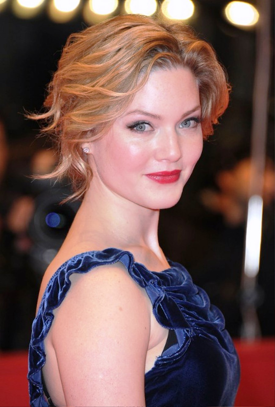 Pictures of Holliday Grainger Wavy Curly Updo For Short Hair