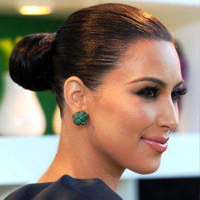 Kim Kardashian Classic Black Bun Hairstyles
