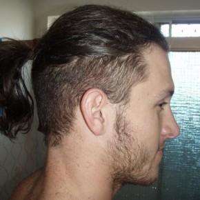 Mens Ponytail Short Sides Best Short Hair Styles