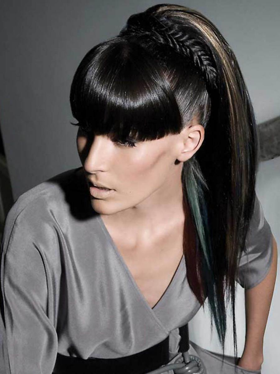 Pictures Of Long Black Ponytail Hairstyles