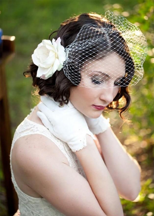 Medium Hair Wedding Styles