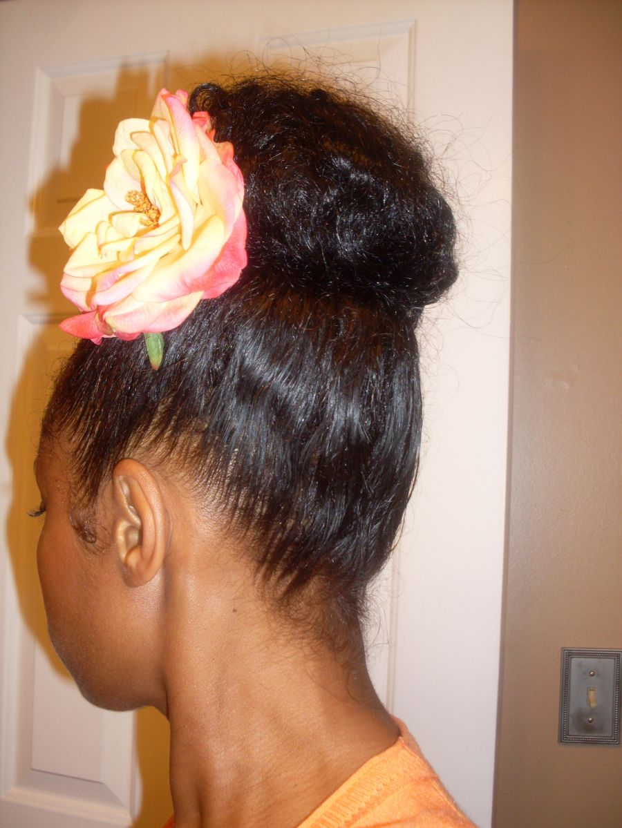 pictures of natural hairstyles using banana clips