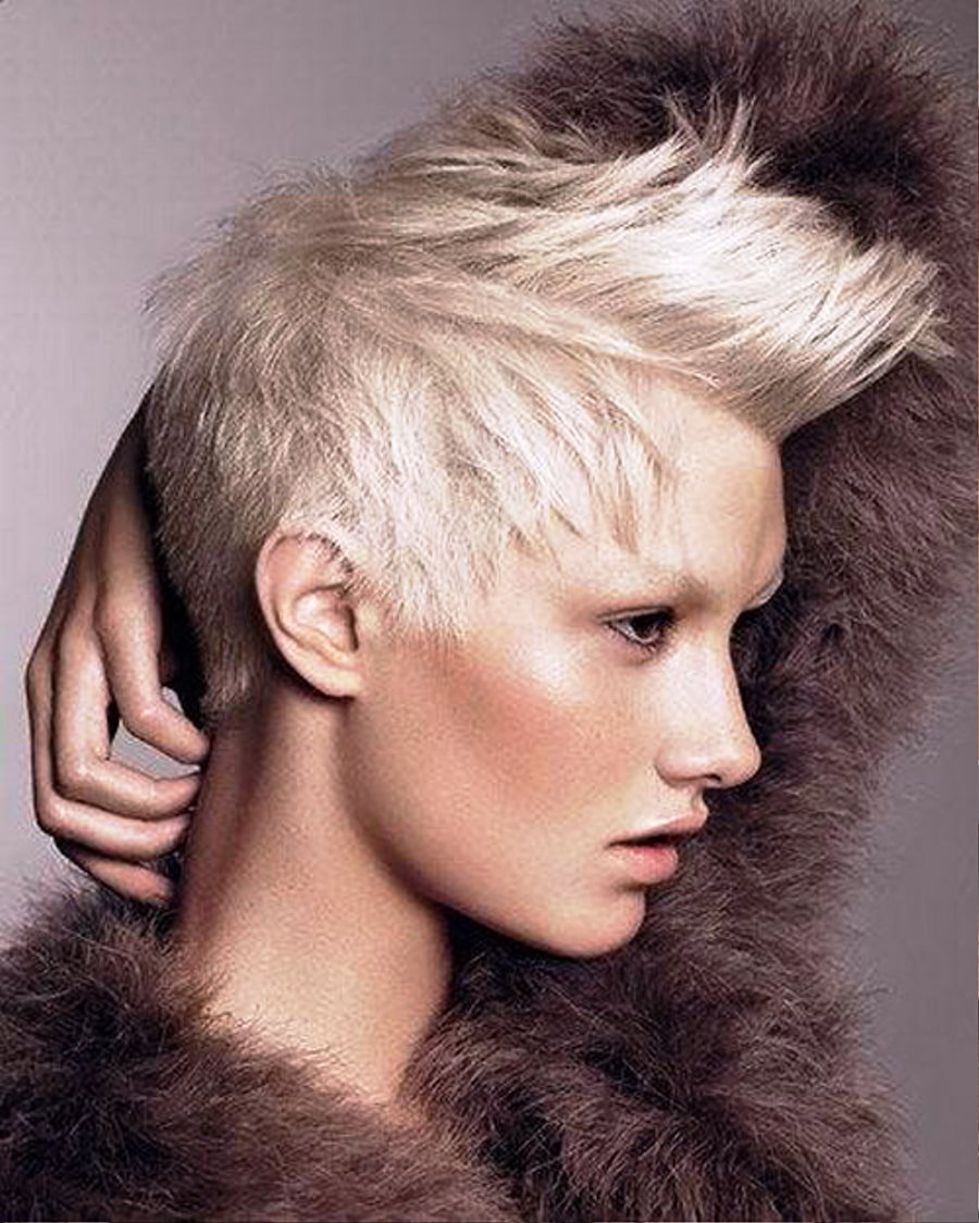 pictures of punk short blonde hairstyles