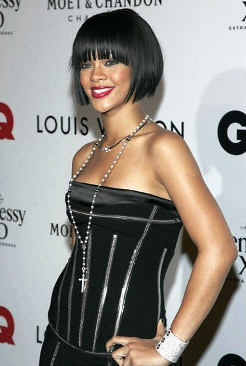 Pictures Of Rihanna Black Bob Hairstyle