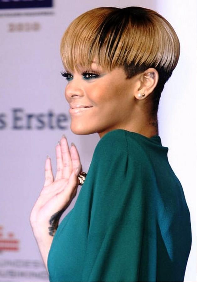 Rihanna Bowl Haircut Behairstyles
