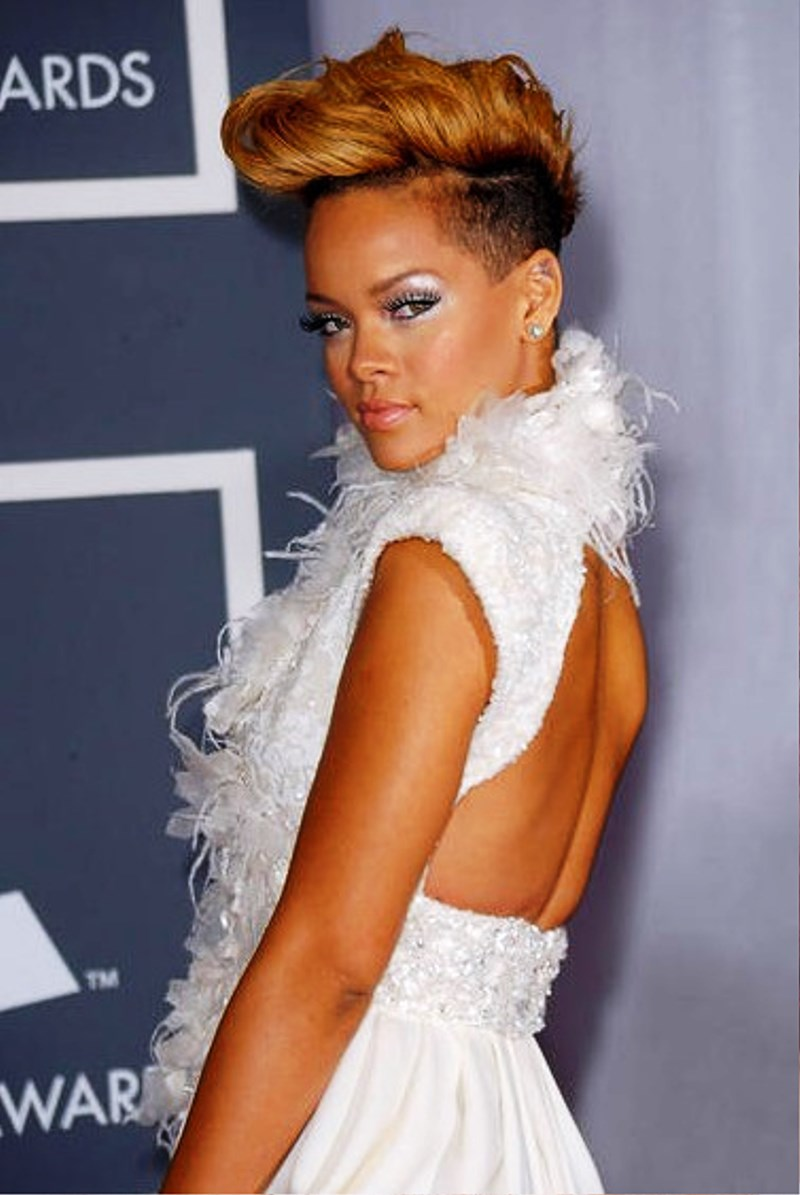pictures of rihanna mohawk hairstyle