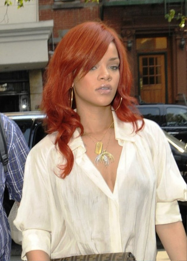 Rihanna Red Curly Hair Weave Best Curly Hair Style 2018