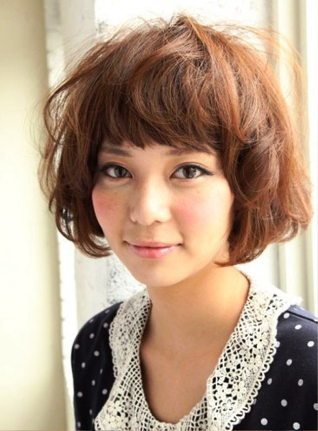 Short Curly Japanese Hairstyle For Women Behairstyles