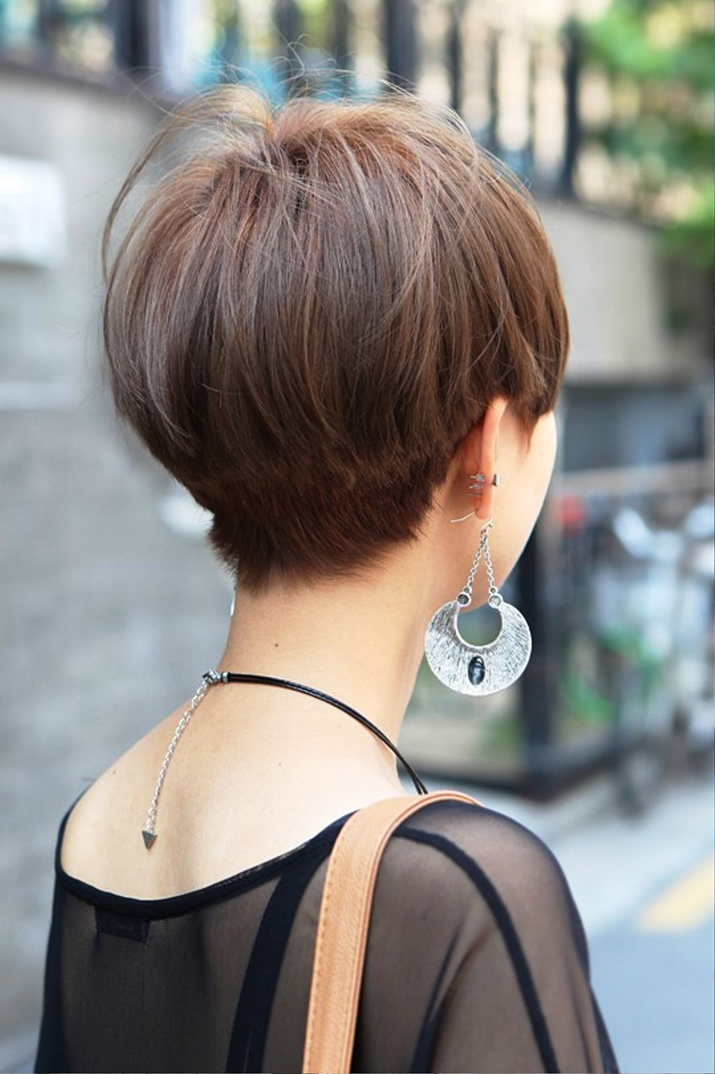 Short Straight Haircut For Asian Women