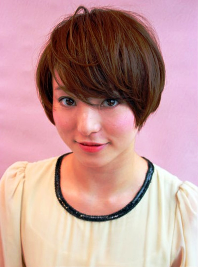 Pictures Of Short Straight Japanese Bob Haircut