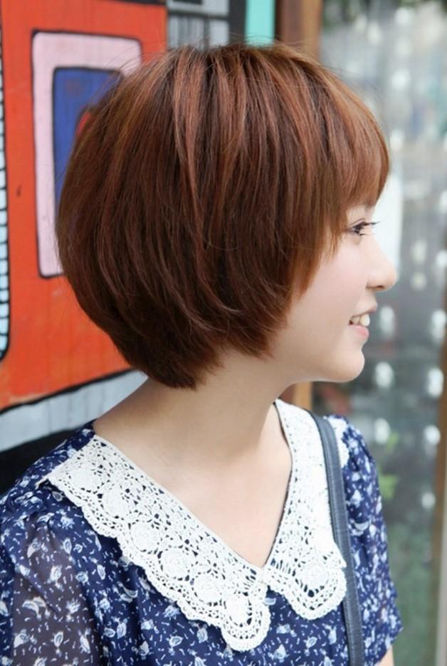 Side View Of Cute Short Korean Bob Hairstyle