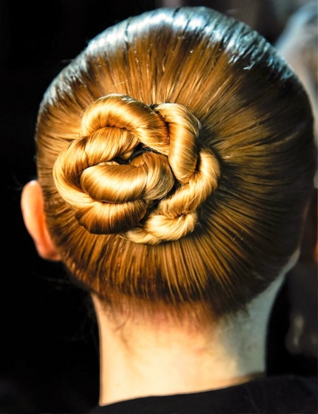 Sleek Twisty Central Chignon