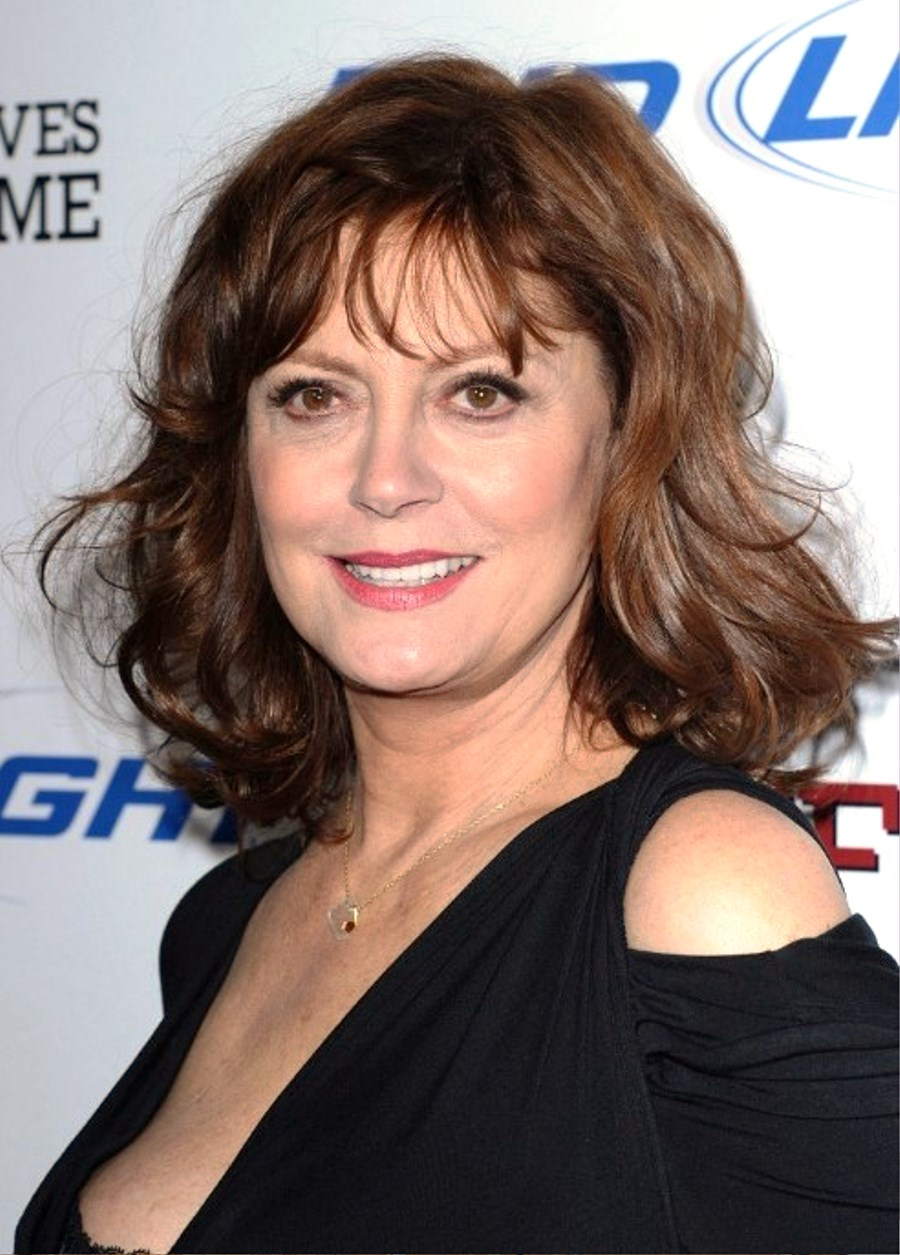 pictures of susan sarandon wavy hairstyle