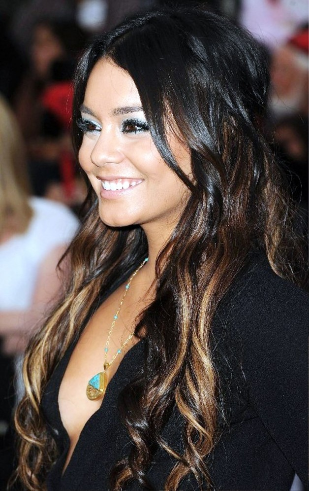 Vanessa Hudgens Sexy Long Ombre Hair Behairstyles