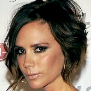 Victoria Beckham Messy Haircut